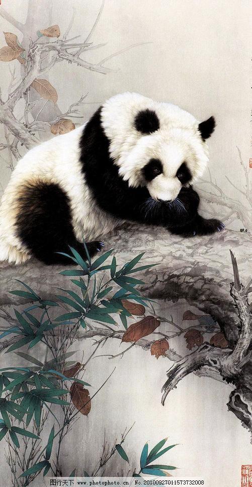 熊猫图图片_印章雕刻_装饰素材_图行天下图库图片