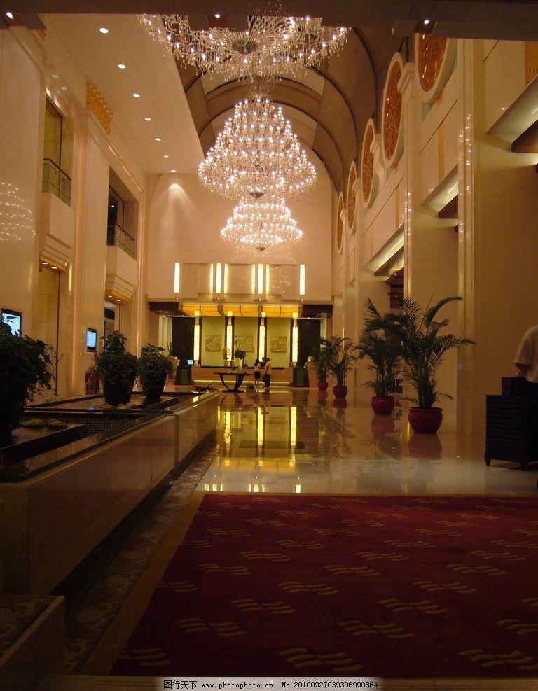 酒店大堂 大厅 室内设计资料 欧式 拍摄 水晶吊灯 吊顶设计 五星级
