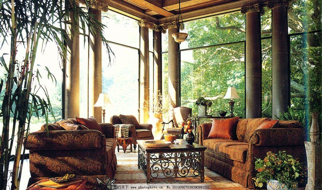 园林室内 别墅 豪宅 装潢 欧式 室内摄影 建筑园林