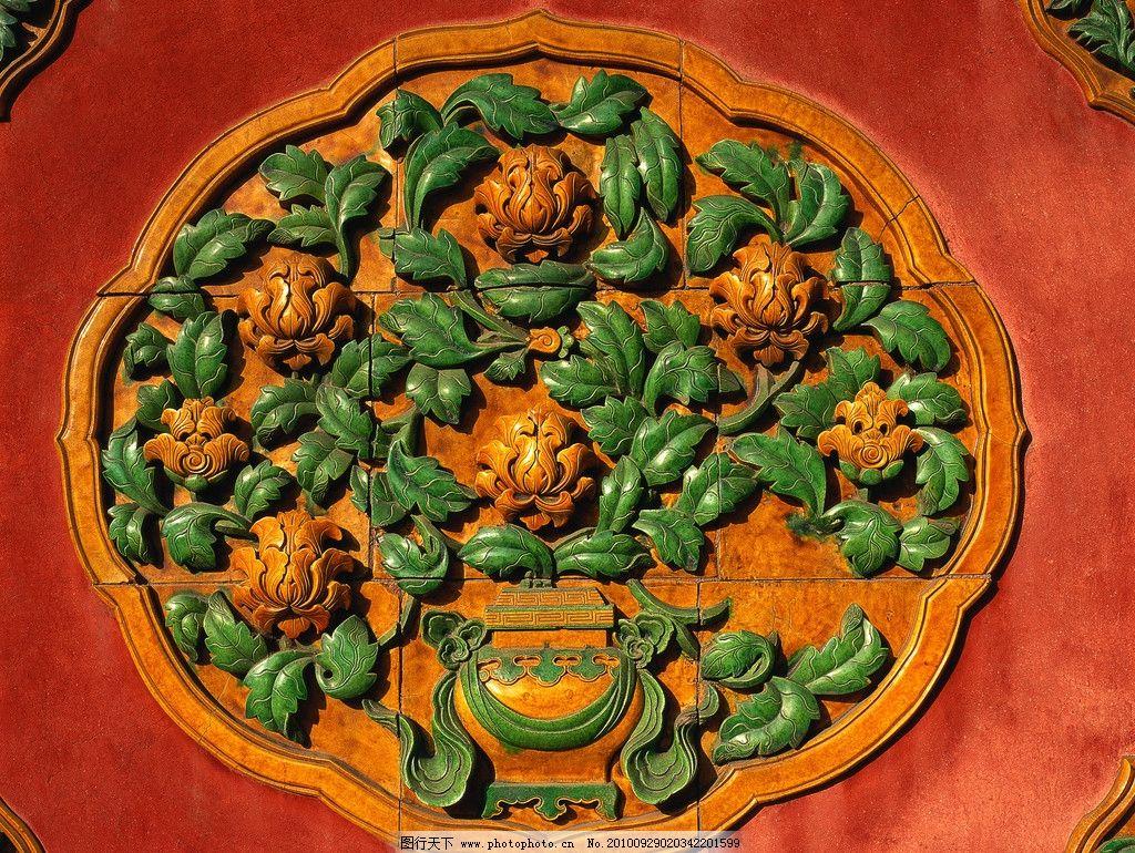 古代花纹 古典墙纹图片
