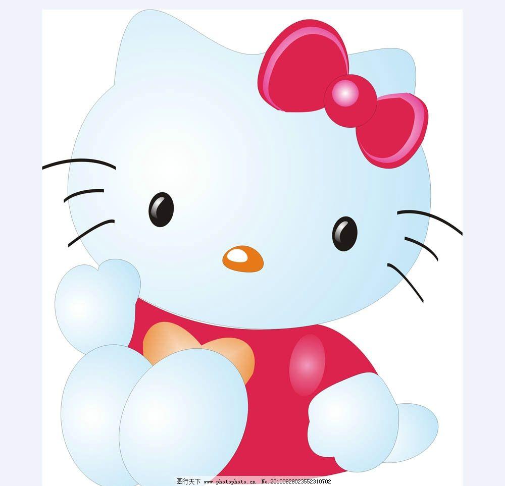 猫咪 可爱 卡通 猫 原创动漫系列 儿童幼儿 矢量人物 矢量 cdr