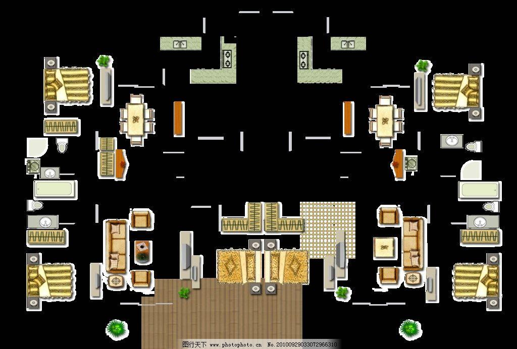 室内户型家具平面素材 室内 户型 家具 平面 素材 psd分层素材 源文件