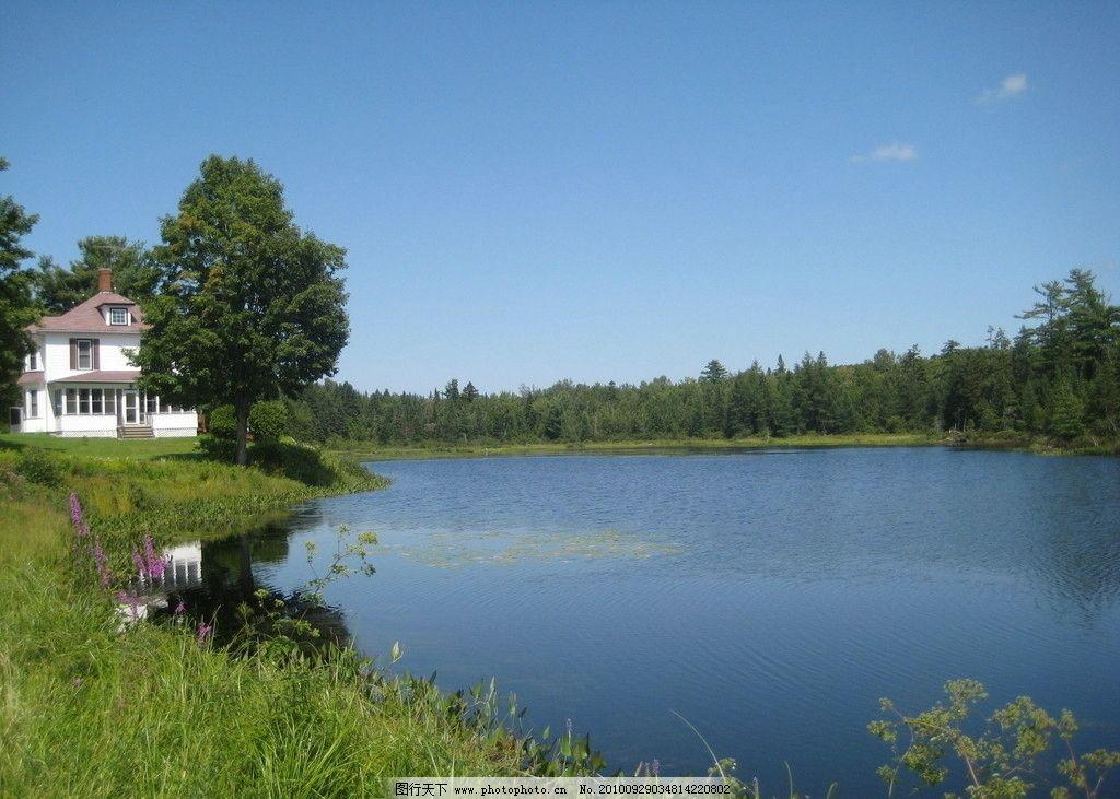 湖岸景色图片_自然风景_自然景观_图行天下图库