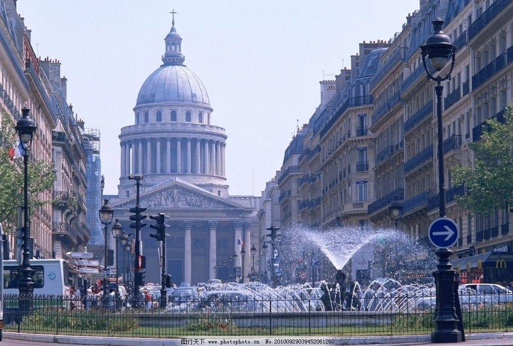 白宫 建筑 欧式 欧美 古典 外国 喷泉 奢华 街道 欧式建筑