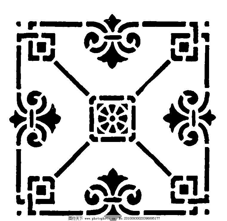 花纹 花边 欧式 图案 花卉 黑白 设计 二方连续 四方连续 抽象 卷草